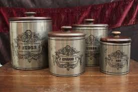 rustic kitchen canisters amazing targovci com