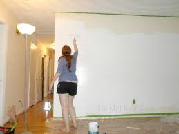 remodelaholic diy ombre painted hexagon accent wall
