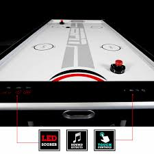 hockey time air hockey table espn 8 ft silver streak air powered hockey table md sports