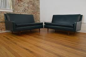 milo baughman two piece mid century sofa galaxiemodern