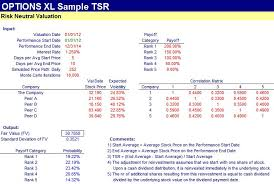 tsr valuation fintools