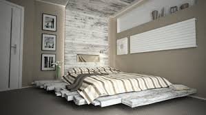 Pallet Bedroom Furniture Fabulous Floating Styled Pallet Bed Ideas Which Is Decorated With