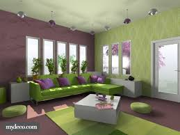 interior purple wall paint house ideas yellow color design living