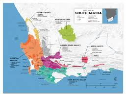 Africa Map Rivers Detailed South African Wine Regions Map Wine Posters Wine Folly