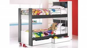 black u0026 white bunk beds design with storage home interiors