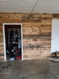 from boring to awesome clad your garage walls and create this clad your garage walls and create this super pallet garage