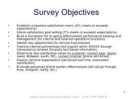 sample customer survey survey objectives customer satisfaction