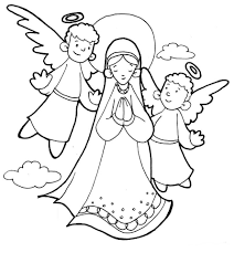 coloring pages mary coloring pages catholic designs canvas