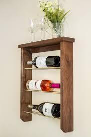 diy wood and brass wine rack