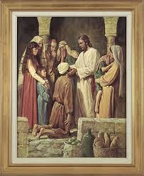 Christ Healing The Blind Christ Healing A Blind Man Del Parson Store Lds Org Great Art