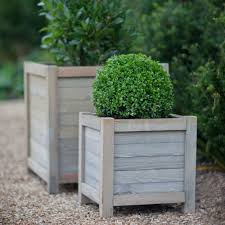 discover the garden trading wooden planter 40cm at amara