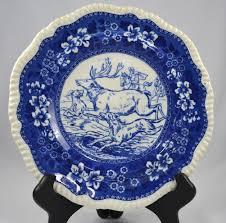 vintage thanksgiving dinnerware blue transferware
