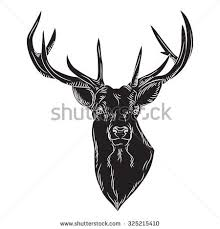 vector geometrical stag reindeer illustration low stock vector