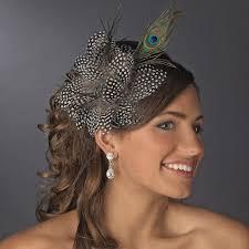 peacock headband black w white spots and peacock feathers headband headpiece 4028