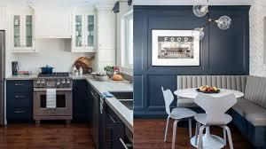 blue kitchen cabinets room tour bright blue kitchen makeover