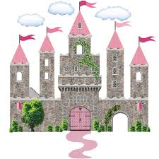 100 princess castle wall sticker disney castle wall sticker pink fairytale princess stone castle wall decals with turrets and