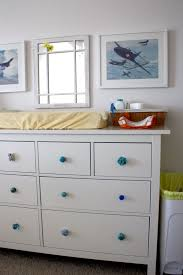 Diaper Changing Table by Cream Pad Changing Table Topper And White Wooden Dresser Having