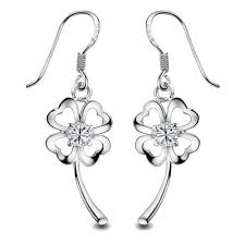 earings for sensitive ears plated flower drop earring for sensitive ears ear stud