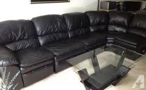 Black Leather Sectional Sofa Recliner 5 Black Leather Sectional Sofa With Recliner And Size