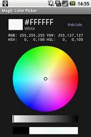 android color picker magic color picker android app web design color