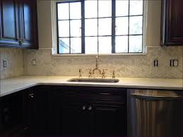 kitchen room travertine subway tile backsplash tumbled marble