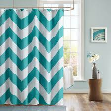 Navy And White Striped Shower Curtain Aqua Shower Curtain Interior Design