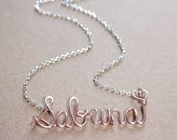 Personalized Name Necklace Sterling Silver Tiny Name Necklace Sterling Silver Personalized Name Necklace