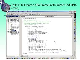project 9 using visual basic for applications vba to customize