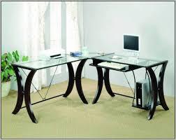 Glass Office Desk Glass Office Desk Ikea Desk Home Design Ideas Qabxgrgmdo20373