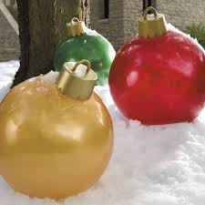 Outdoor Christmas Ornament Balls by Giant Inflatable Ornaments Spray Painting Sour Cream And Sprays