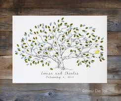 wedding guest book alternative fingerprint tree large low