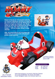roary racing car kiddie ride jolly roger amusement rides