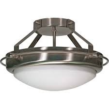 Flush Ceiling Light Fixtures Nuvo 60 609 2 Light Semi Flush Ceiling Light Fixture Polaris