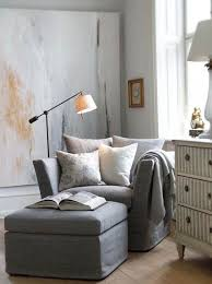 comfy chair with ottoman grey linen chair and foot stool g r e i g e i n t e r i o r s