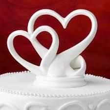 wedding cake sleek interlocking hearts design cake topper nz