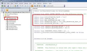 is it possible to declare a public variable in vba and assign a