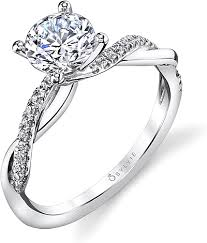 twisted shank engagement ring sylvie twist shank engagement ring s1524