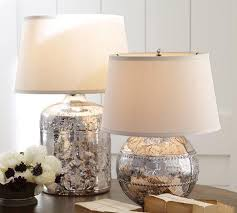 Pottery Barn Lamos Antique Mercury Glass Table Lamp Bases Pottery Barn