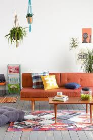 mid century ikea hack burnt orange sofa and loveseat mid century in