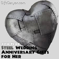 11th anniversary gift ideas 11th year steel wedding anniversary gifts for gift