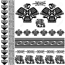 vector of ancient american ornaments on white royalty free