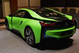 dark green bmw ever seen a lime green bmw i8 before