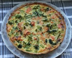 cuisiner le brocolis frais quiche au brocoli et saumon fumé d annaelle pâtisseries et