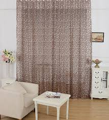 European Lace Curtains New Arrival Peony Pattern Voile Curtain Window Valance European