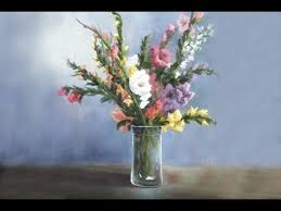 Flowers In A Vase Images Gladiola Flowers In A Vase Paint With Kevin Hill Youtube