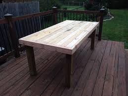 Wooden Outdoor Table Diy by Diy Outdoor Table And Benches Diydry Co