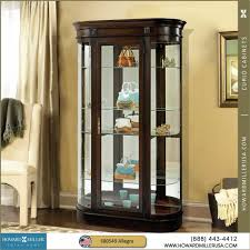Beveled Glass China Cabinet Howard Miller Contemporary Curved Display Curio Cabinet 680549
