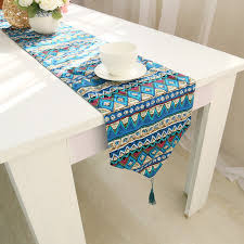 home decor table runner cotton linen nation triangle gemoetric rustic home decor table