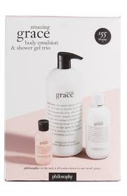philosophy amazing grace body emulsion shower gel trio philosophy amazing grace body emulsion shower gel trio nordstrom exclusive 83 value nordstrom