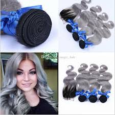 can ypu safely bodywave grey hair 8a ombre brazilian body wave grey hair weave with closure grey